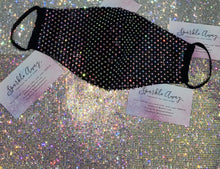 Deluxe Bling Face Mask In Crystal AB