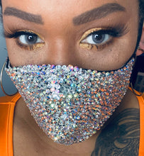 EXTRA Sparkly Bling Face Mask In Crystal & Crystal AB