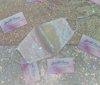 Iridescent Sequin Face Mask