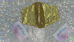 True Gold Sequin Face Mask