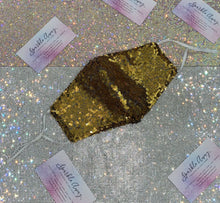 Topaz Gold Sequin Face Mask