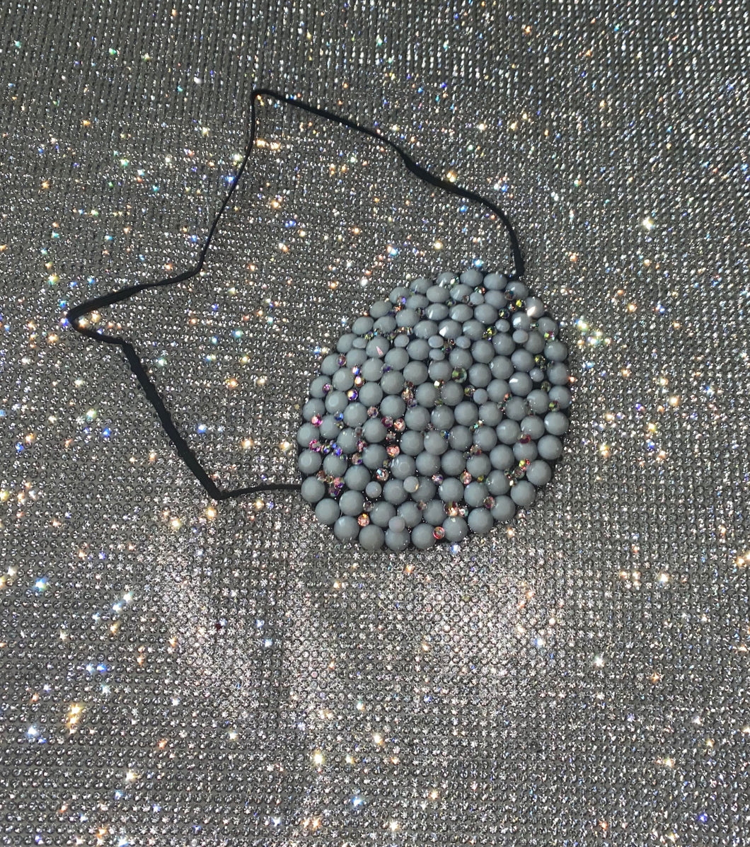 Shell & Opal Moonstone Crystal Eye Patch
