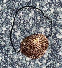Black Eye Patch Bedazzled In Champagne Gold Crystal