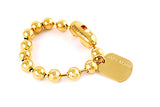 Army 10mm Ballchain Yellow Gold Bracelet