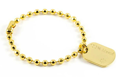 Army 4mm bracelet 100% mama plaque