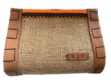 Dutzi Design Small Burlap Clutch