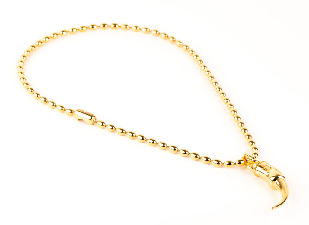 Spur Short Yellow Gold Necklace