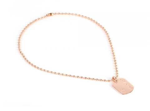 100% MAMA SHORT ARMY NECKLACE ROSE GOLD