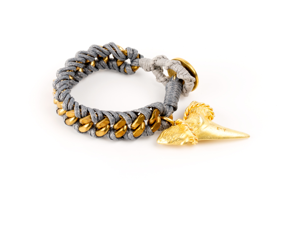 Escualo Brass Shark tooth  Bracelet