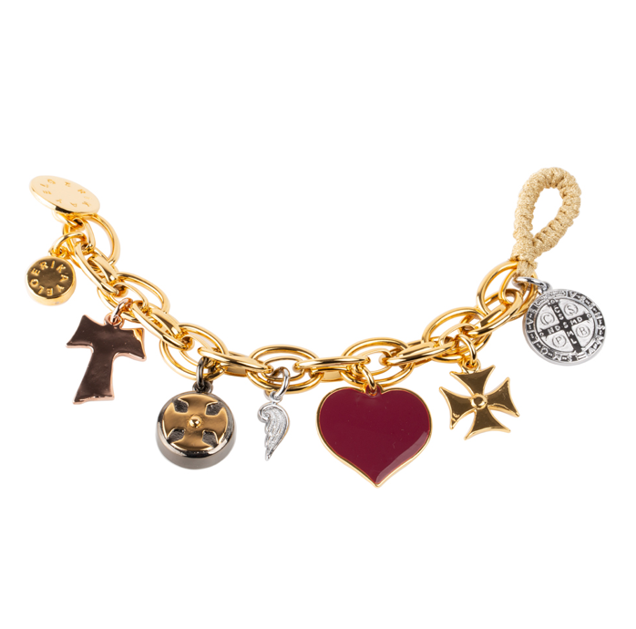 Faithfullness Religious Multicharm Bracelet