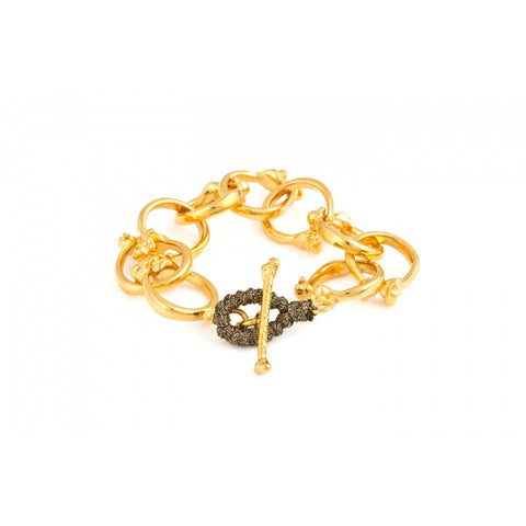 Little Bones Bracelet yellow Gold by Erika yelo