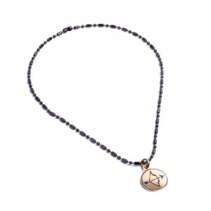 Army Short titanium Zodiac Charm Necklace