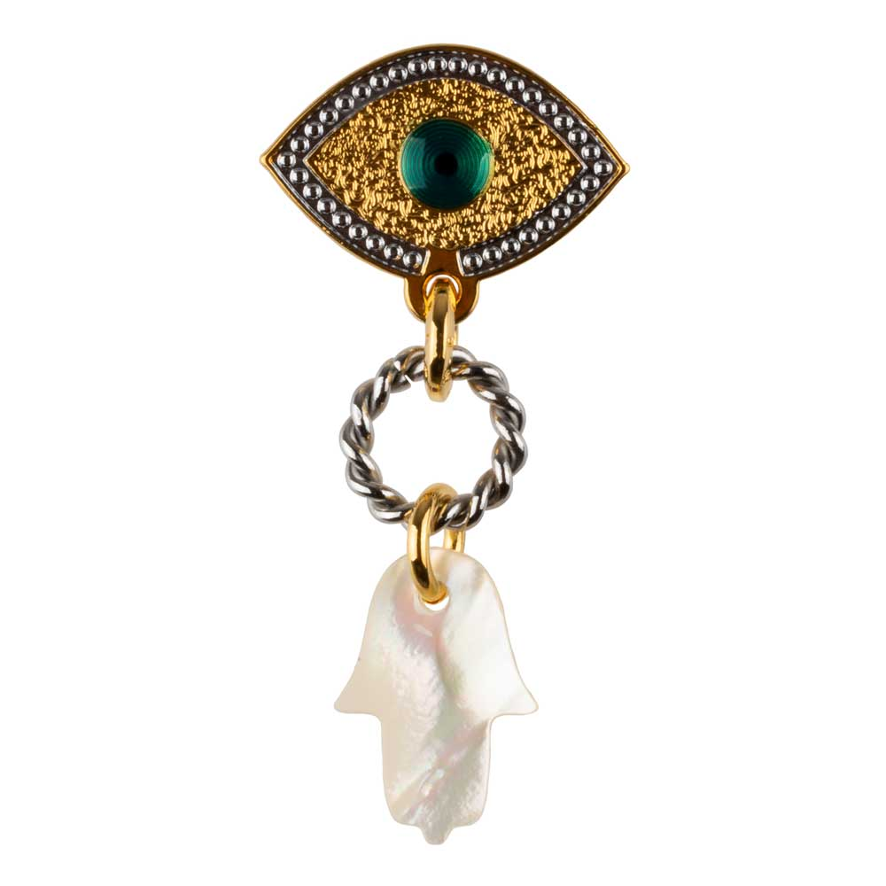Lucky Eye Hamsa Earring (Sold by unit)