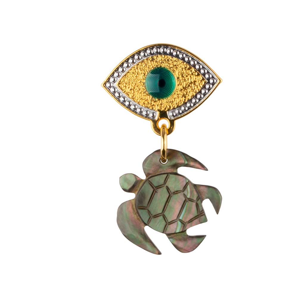 Lucky Eye Turtle Earring (Sold by unit)