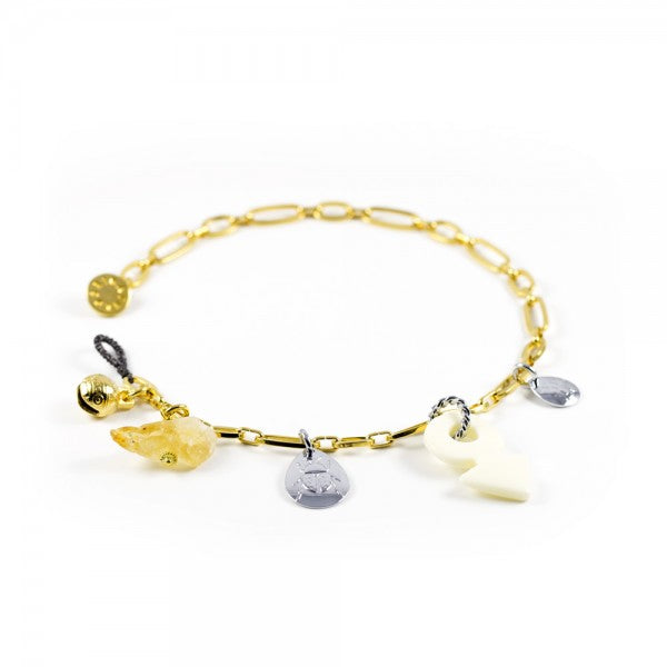 Schatz Yellow Gold Multicharm Choker
