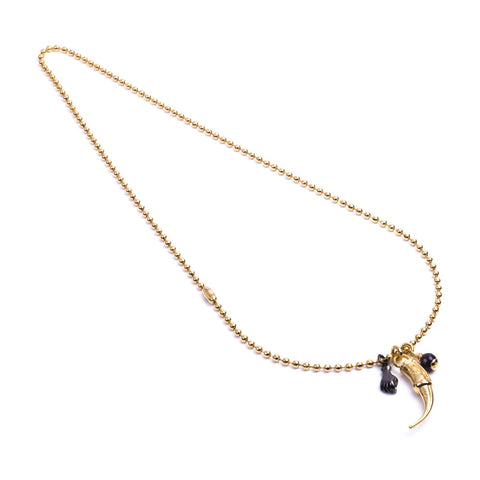 Spur Army Long Yellow Gold Necklace