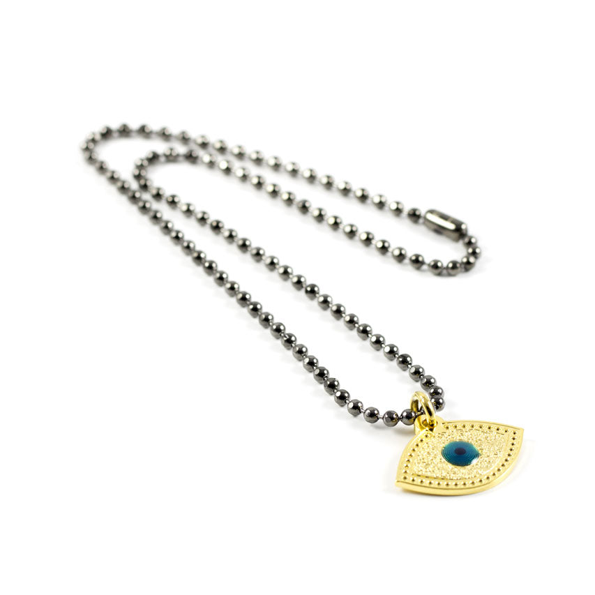 Army Short Necklace Titanium Lucky eye