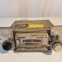 1970s Bowman cassette car stereo player with AM FM MPX radio