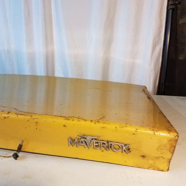 Trunk lid 1970s Yellow Ford Maverick