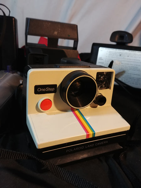 Polaroid SX-70 Land Camera 🌈 Rainbow Stripe