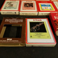 8 Track Tape Collection in Red Sleeves Mantovani Star Wars Elvis Barry Manilow