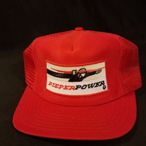 Pieper Power HVAC Patch Snapback Trucker Hat Vintage Mesh Cap Made in USA - B2