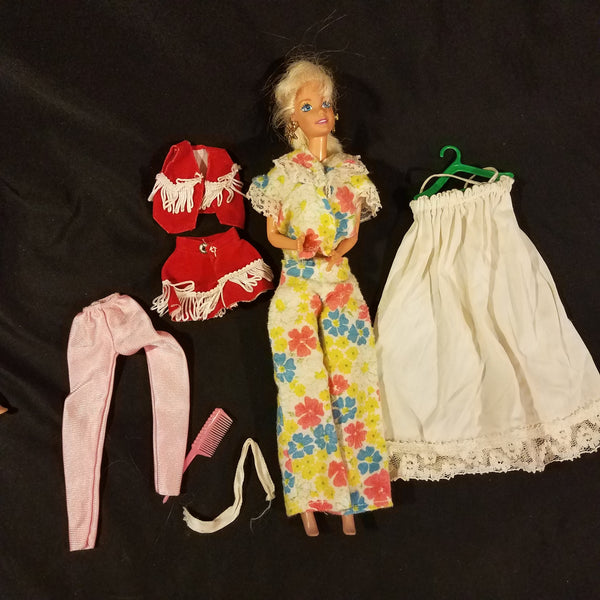 Vintage Barbie Clothes Unlabeled with Doll Lot #6