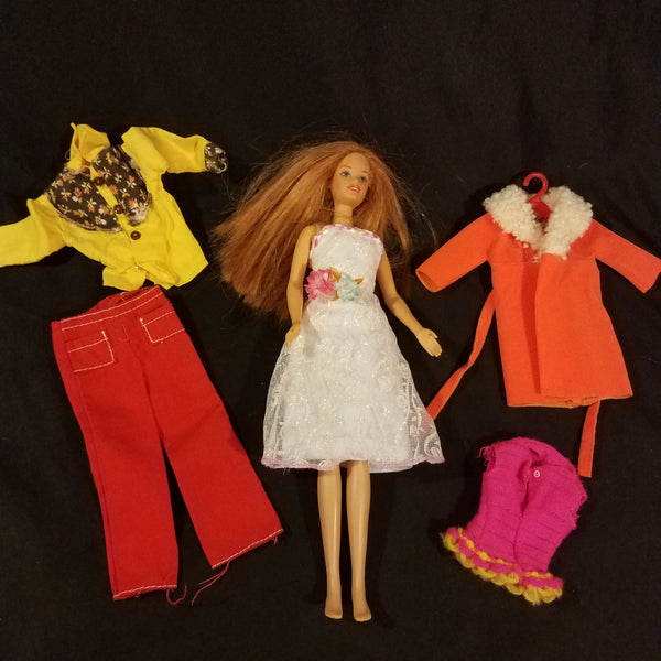 Vintage Barbie Clothes Unlabeled and Black Label with Doll Lot #10