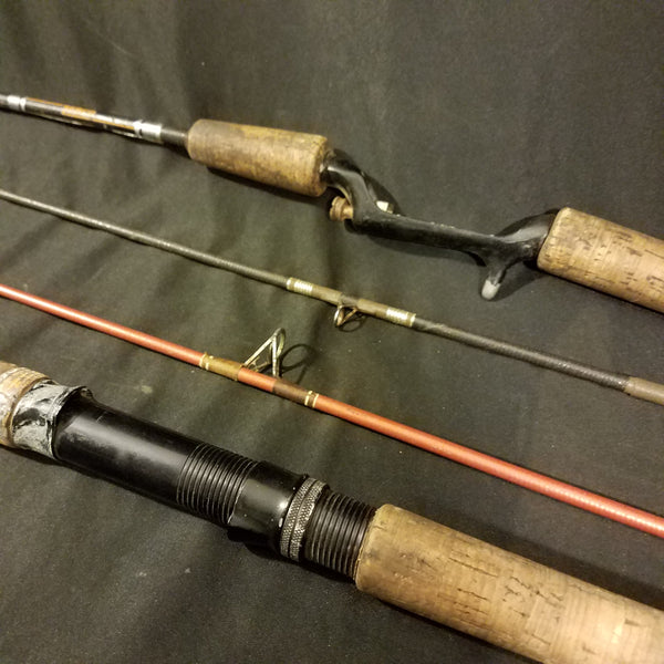 Fishing Rods Abu Garcia and Zebco 6ft Vintage 2 Piece