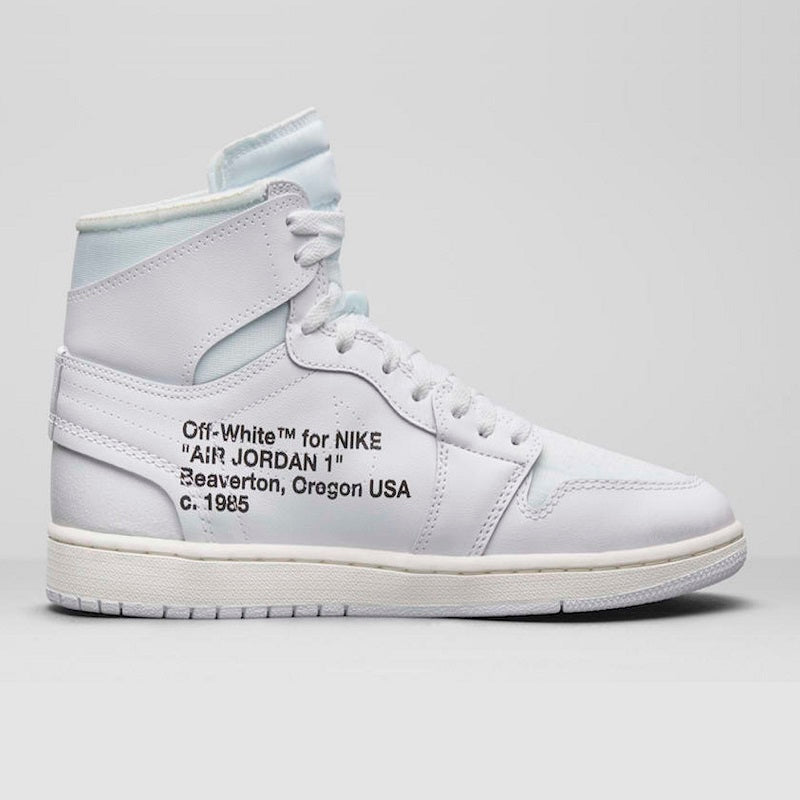 "775b56c7e9c3aa Off White x NK Air Jordan 1 ""All White"" – Hoodiehoarders.com"