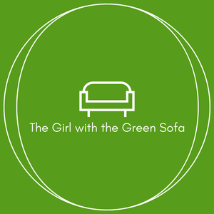 The Girl With The Green Sofa Features Orange & Grey