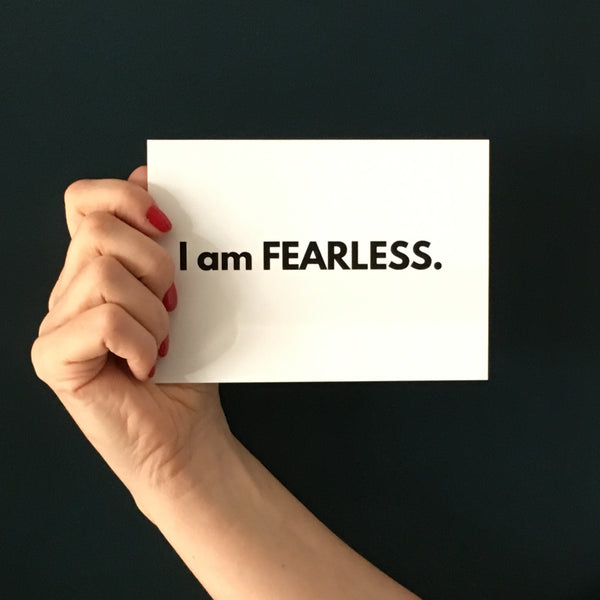 I AM FEARLESS A6 postcard