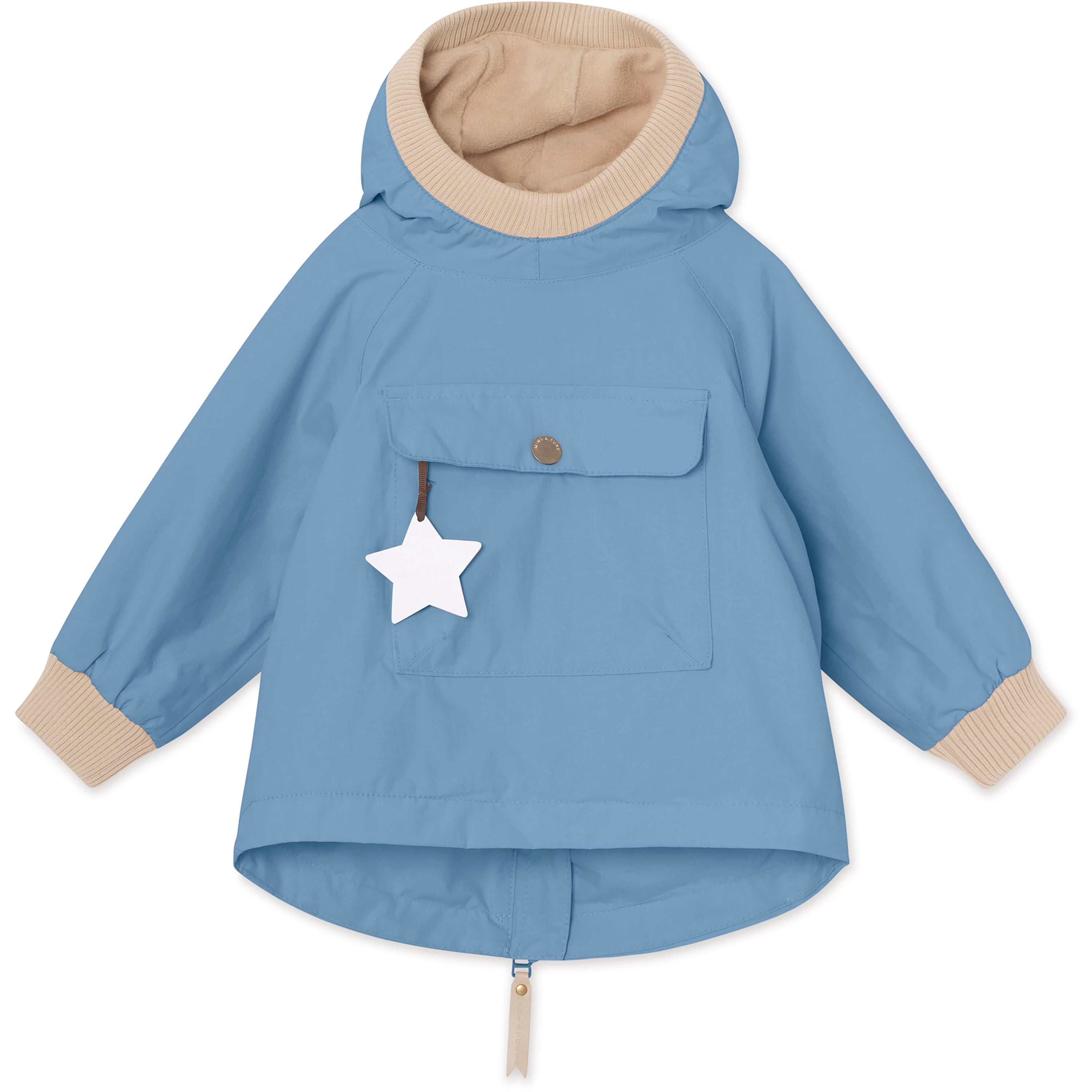 Image of   Baby Vito Fleece Anorak - Blue Heaven