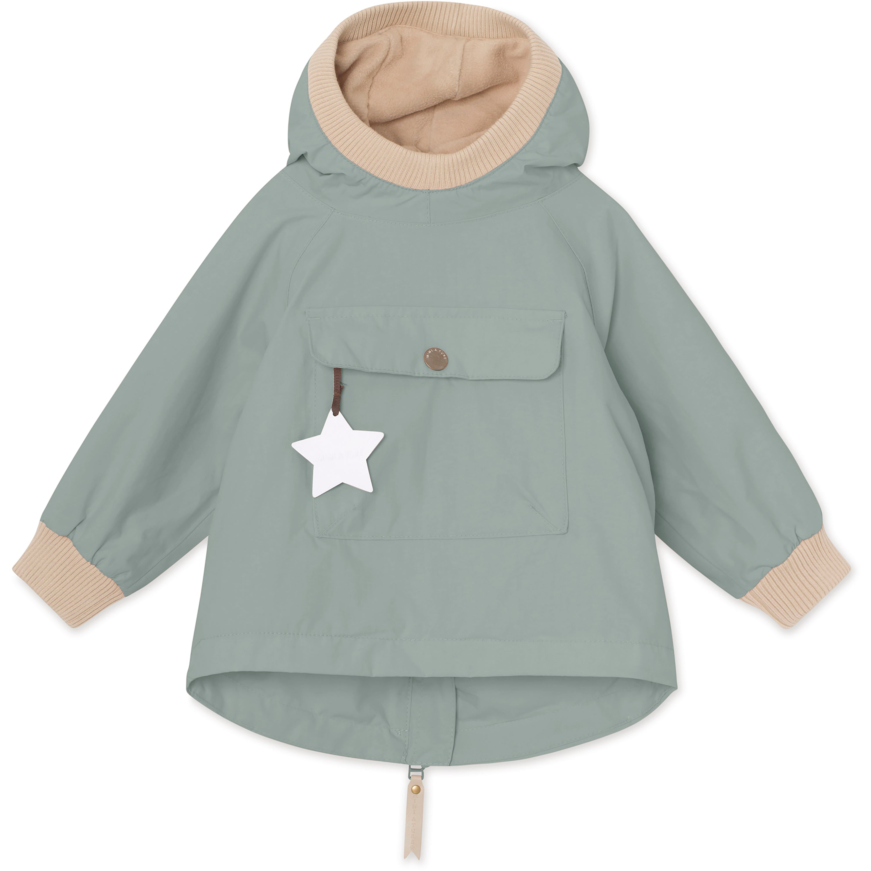 Image of Baby Vito Fleece Anorak - Chinois Green