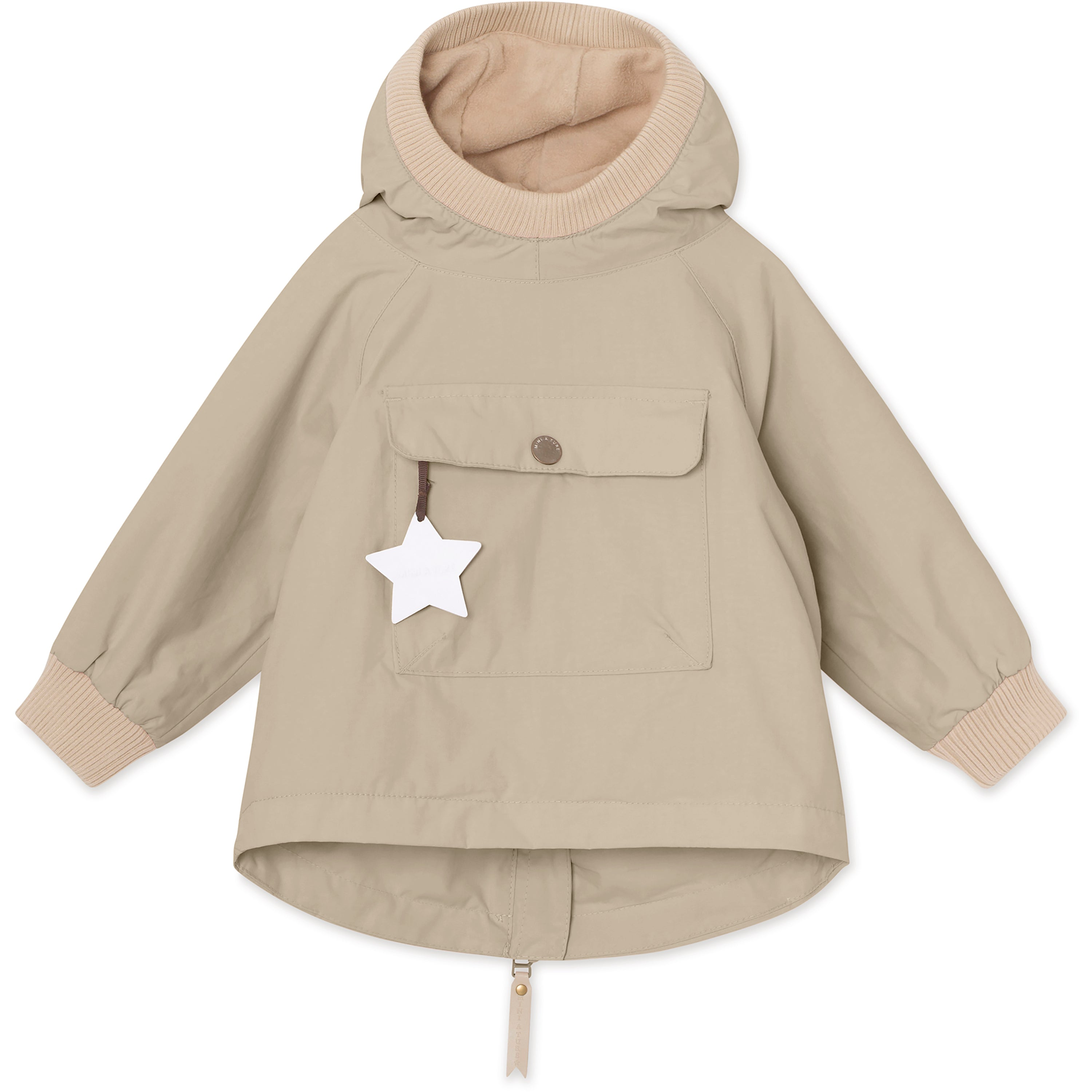 Image of   Baby Vito Fleece Anorak - Doeskind Sand