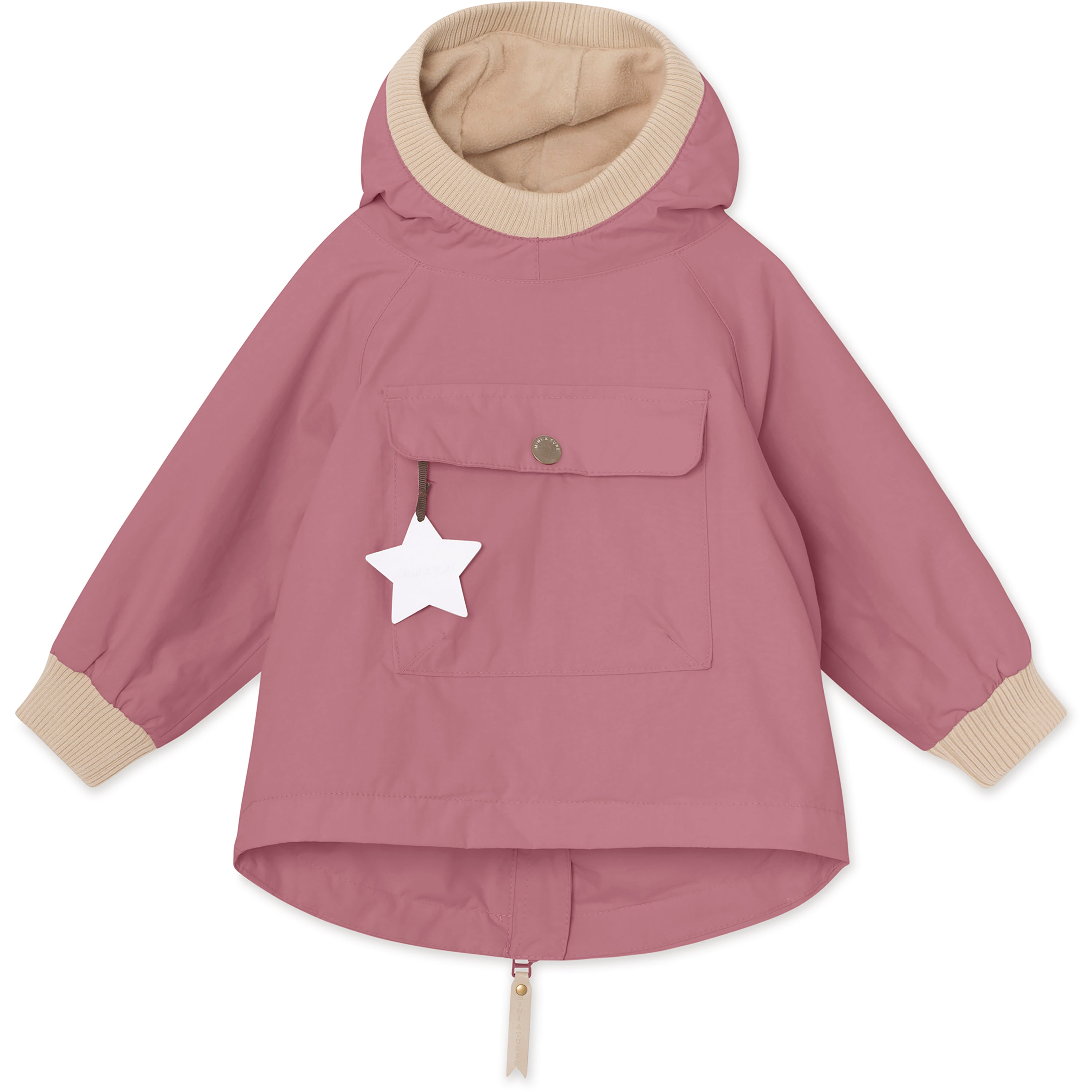 Image of Baby Vito Fleece Anorak - Nostalgia Rose
