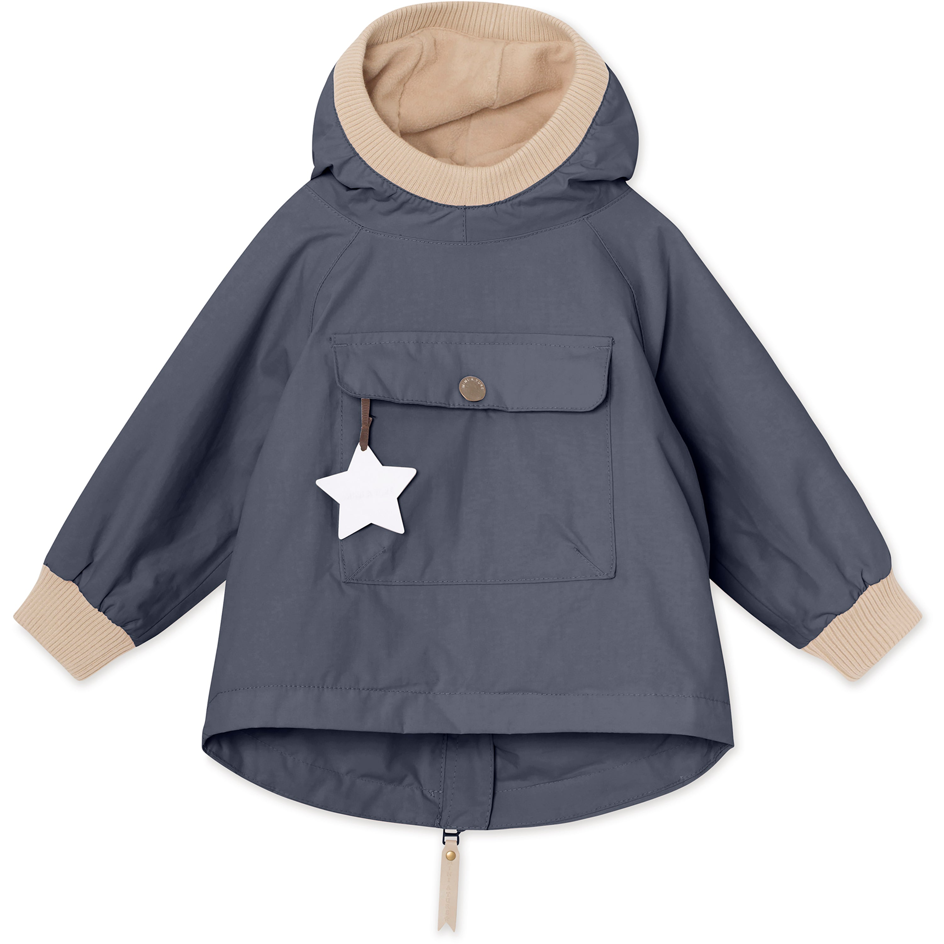 Image of Baby Vito Fleece Anorak - Ombre Blue