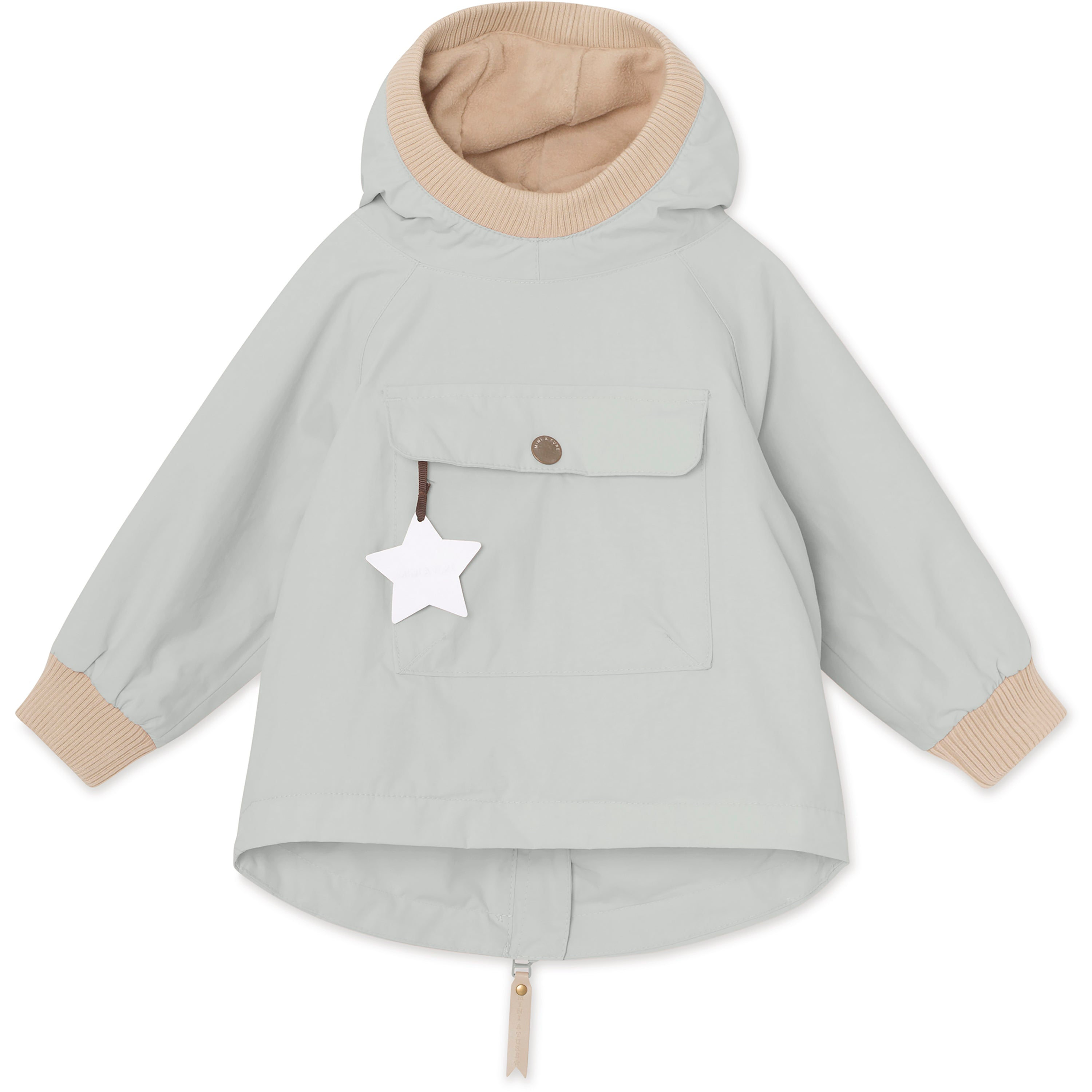 Image of   Baby Vito Fleece Anorak - Puritan Grey