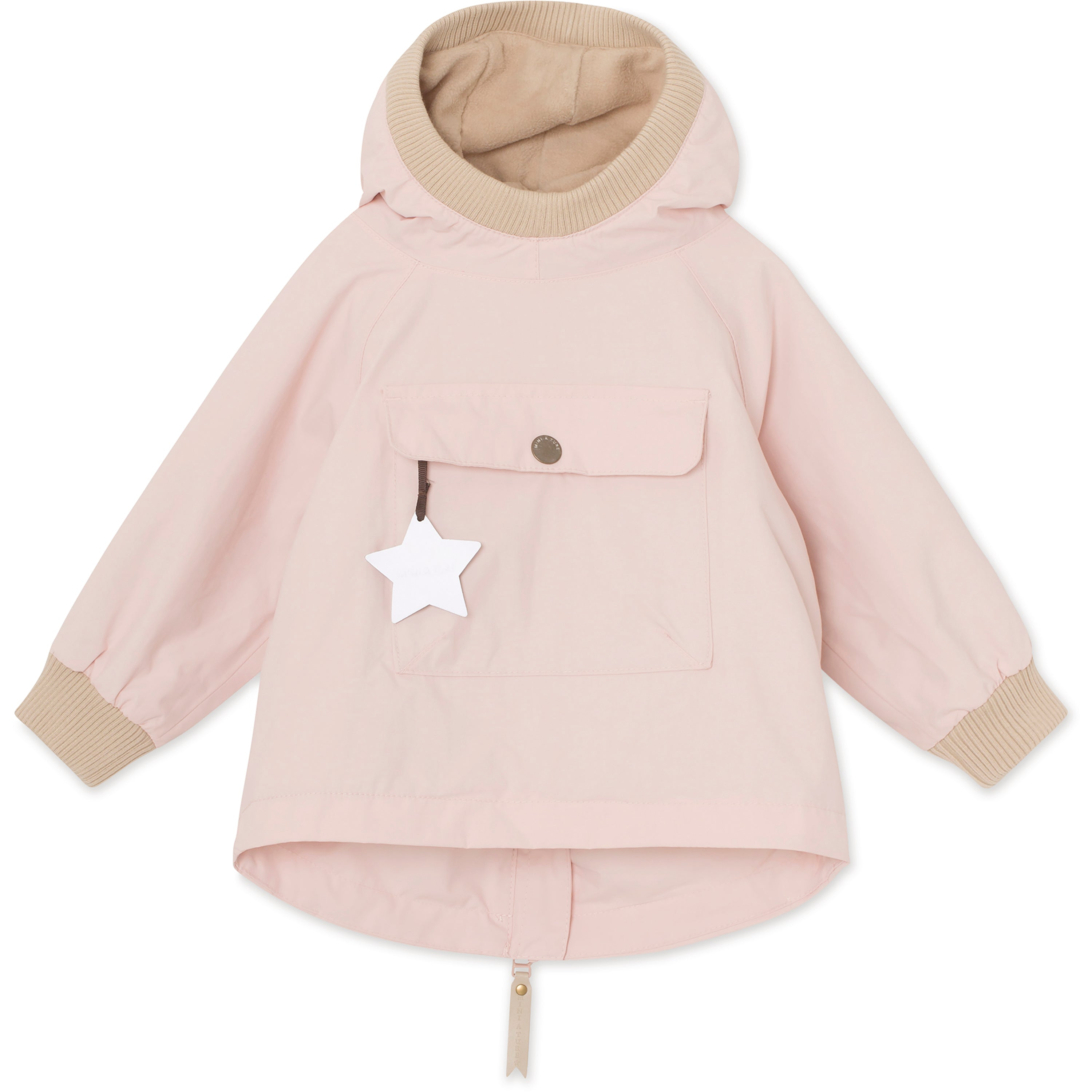 Image of   Baby Vito Fleece Anorak - Strawberry Creme