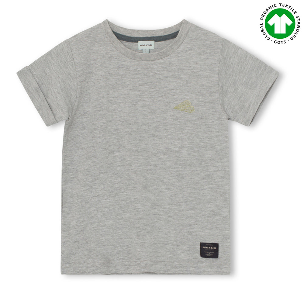 Image of   Charley T-shirt GOTS -Light Grey Melange