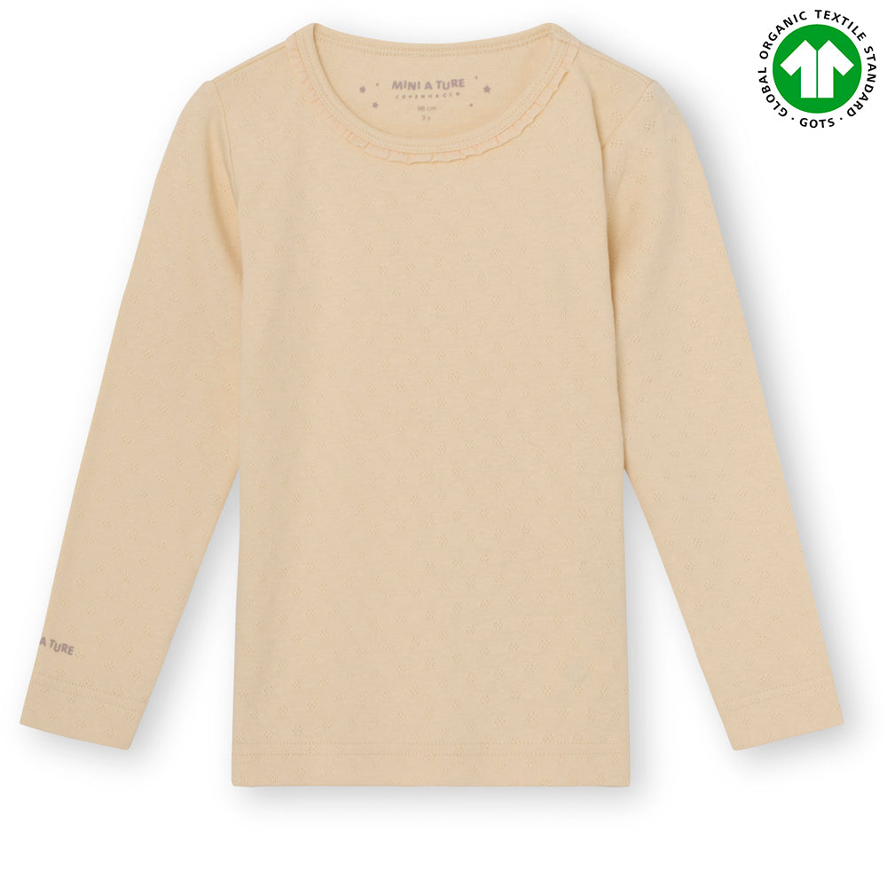 Image of   Aje T-shirt GOTS - Marzipan Beige