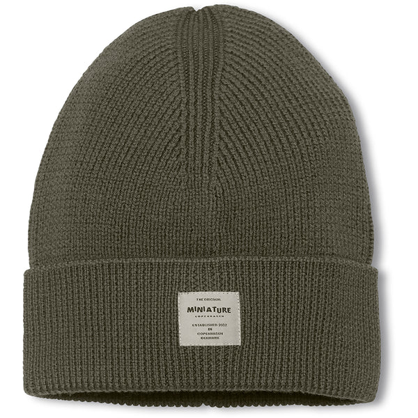 Boje beanie i merinould - Forest Night