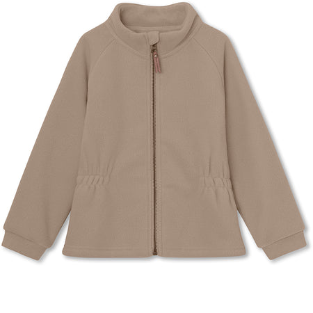 Lola fleece jakke - Taupe Grey