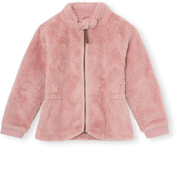 Lola Teddy Fleece Jakke - Pale Mauve