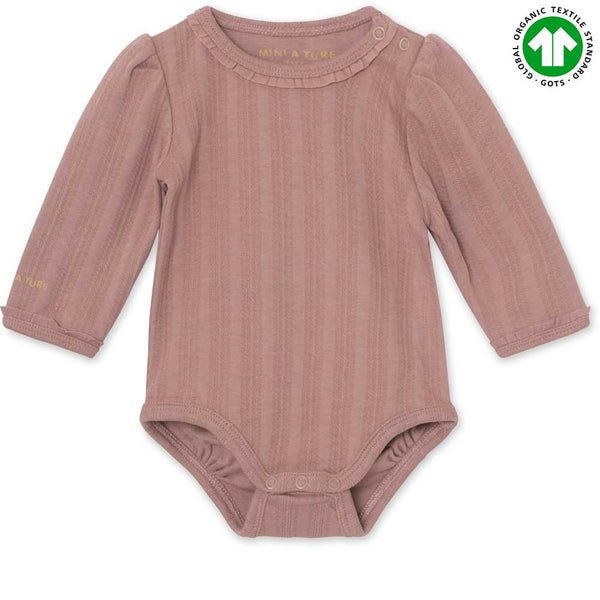 Akeleje body GOTS - Light Plum