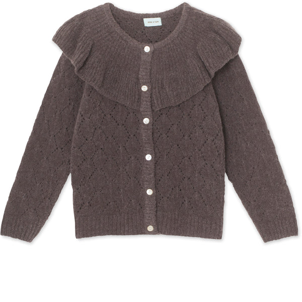 Diann Cardigan i uld - Rabbit Plum
