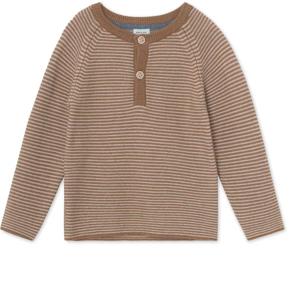 Kaare Blouse merinould - Otter Brown