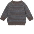 Maximus Cardigan i merinould - Brown Melange