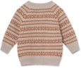 Maximus Cardigan i merinould - Light Brown Melange
