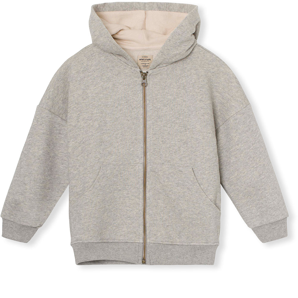 Alfie Zip Hoodie - Light Grey Melange